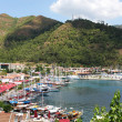 View of the yacht marina in Marmaris - Stock Photo