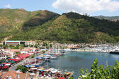 View of the yacht marina in Marmaris — Stock Photo