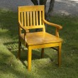 Stock Photo: Old wood chair on grass