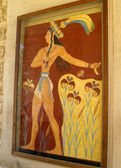 Prince of lilies in Knossos Palace — Stock Photo
