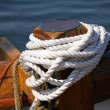 Tied white rope — Stock Photo #2371953