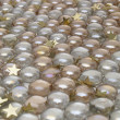 Stock Photo: Balls with gold stars background