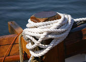 Tied white rope — Stock Photo