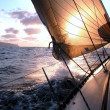 Sailing to the sunrise — Foto Stock