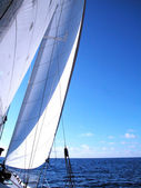 Sailing in light wind — Stock Photo