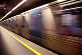 Train blured in motion — Stock Photo