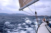 Sailing with good wind — Stockfoto