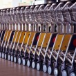 Trolleys at aeroport — Stock Photo