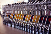 Trolleys at aeroport — Stock Photo