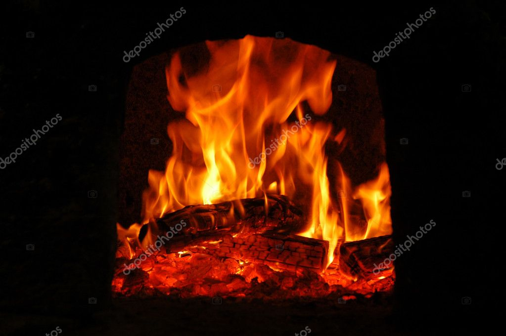 A warm campfire with a black background — Stock Photo #2499257