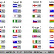 World Cup South Africa balls - Groups — ベクター素材ストック