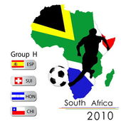 World Cup South Africa balls – Group H — Stock Vector
