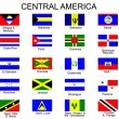 Stok Vektör: List of all flags of Central America