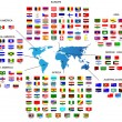 Flags of all countries in the world - Stok Vektör