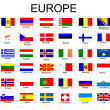 Stock Vector: List of all European country flags