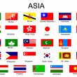 Stok Vektör: List of all flags of Asian countries
