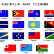Royalty-Free Stock Imagen vectorial: List of all flags of Australia and Ocean