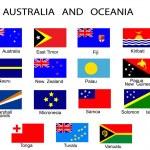 seznam všech příznaků, Austrálie a oceán — Stock vektor