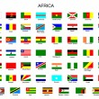List of all flags of Africa  countries — Stockvektor