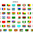 List of all flags of Africa  countries - Stock Vector