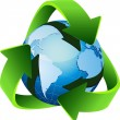 Recycle, reuse, reduce — Imagen vectorial
