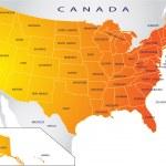 Political map of USA — Stock Vector #1935943