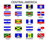 List of all flags of Central America — Stock Vector