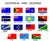 List of all flags of Australia and Ocean — Stock Vector