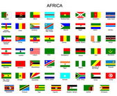 Lista över alla flaggor i afrika länder — Stockvektor