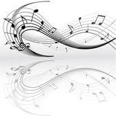 Notas de la música — Vector de stock