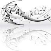 Notes de musique — Vecteur