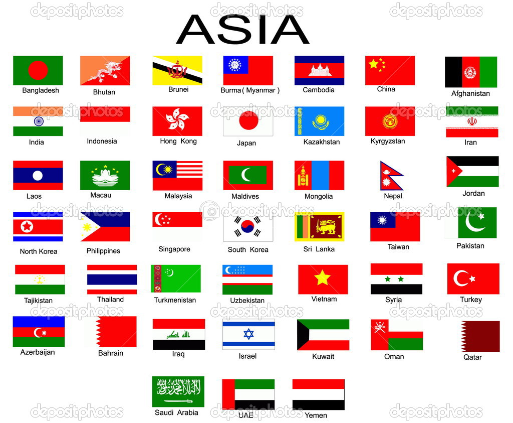 List of all flags of Asian