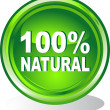 Button 100% natural — Stock Vector