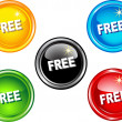 Free buttons - Stock Vector
