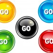 Go buttons — Stock Vector