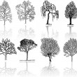 Stock Vector: Tree silhouettes