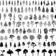 Tree  silhouettes - Stockvectorbeeld