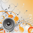 Royalty-Free Stock Vektorfiler: Loudspeaker background