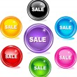 Sale buttons - Stock Vector