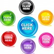 Stock Vector: Click here buttons