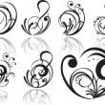 abstracte tattoo — Stockvector