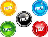 Free buttons — Stock Vector