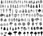 Tree silhouettes — Vetorial Stock