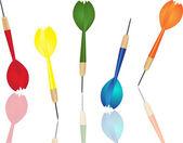 Dart, olika färger — Stockvektor