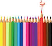 цветные карандаши — Cтоковый вектор
