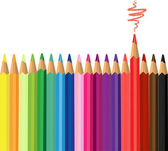 Colored pencils — Vector de stock