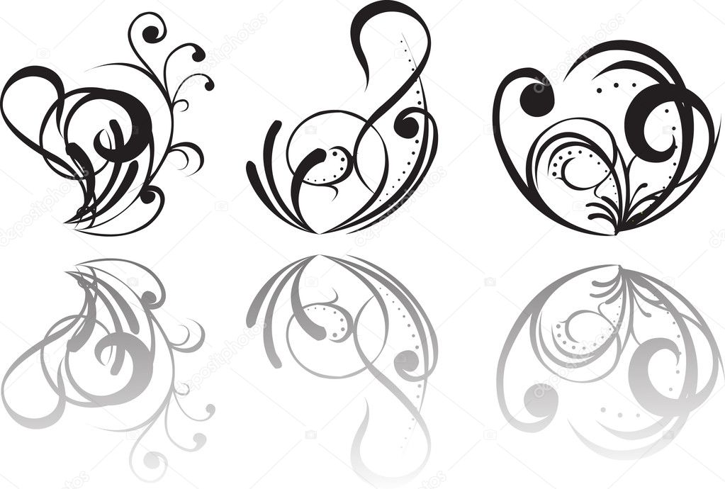 abstract tattoo design, vector