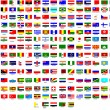 Flags of all countries in the world — Vettoriali Stock