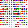 Flags of all countries in the world — Stockvectorbeeld