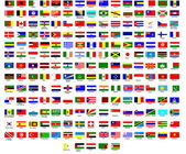 Dünyadaki bütün ülkelerin bayrakları — Stok Vektör